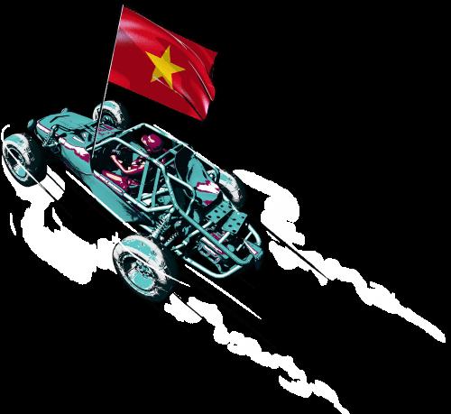 ornament car flag vn